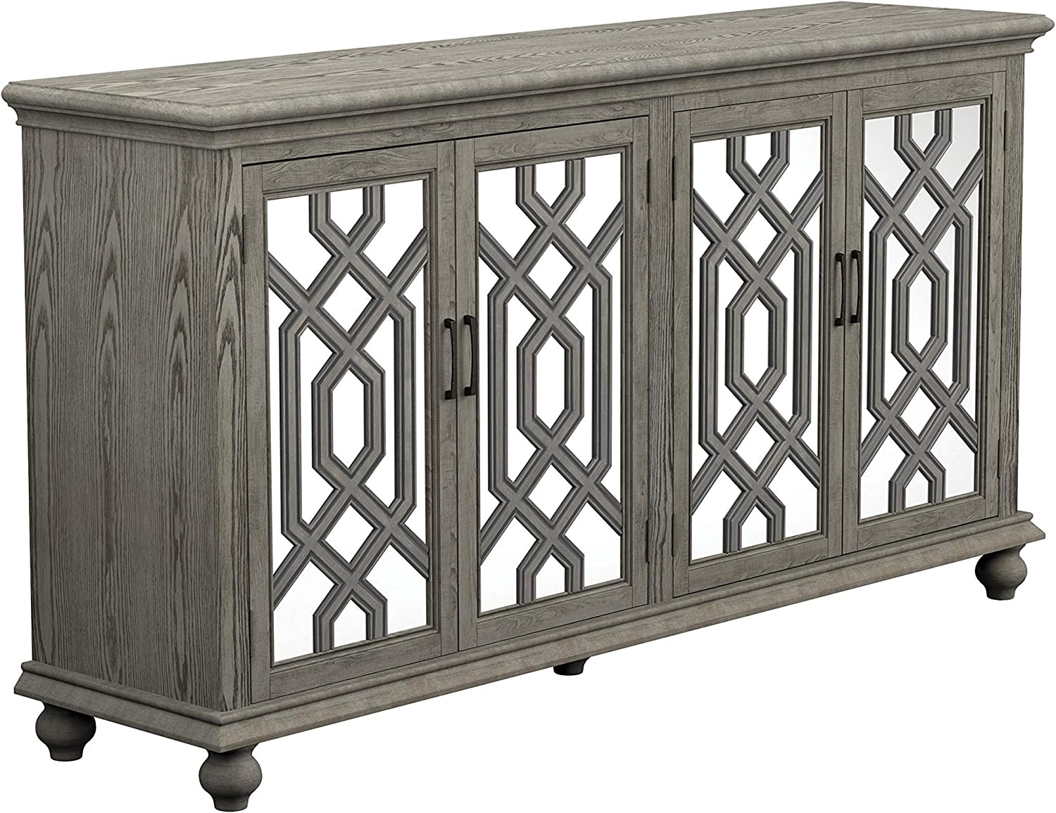 Coaster Home Furnishings 4-Door Antique White Accent Cabinet
