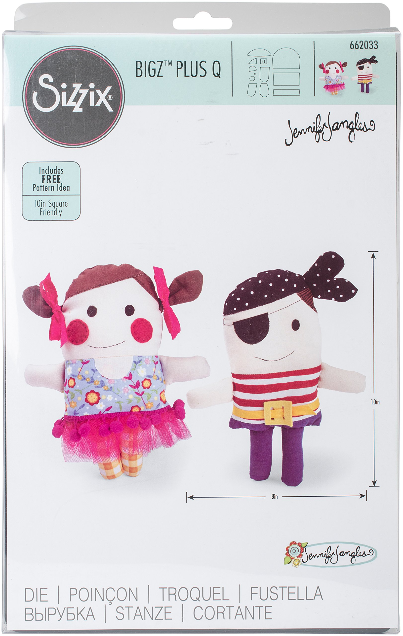 Sizzix 662033 Bigz Dies Plus-Pirate & Ballerina Dolls