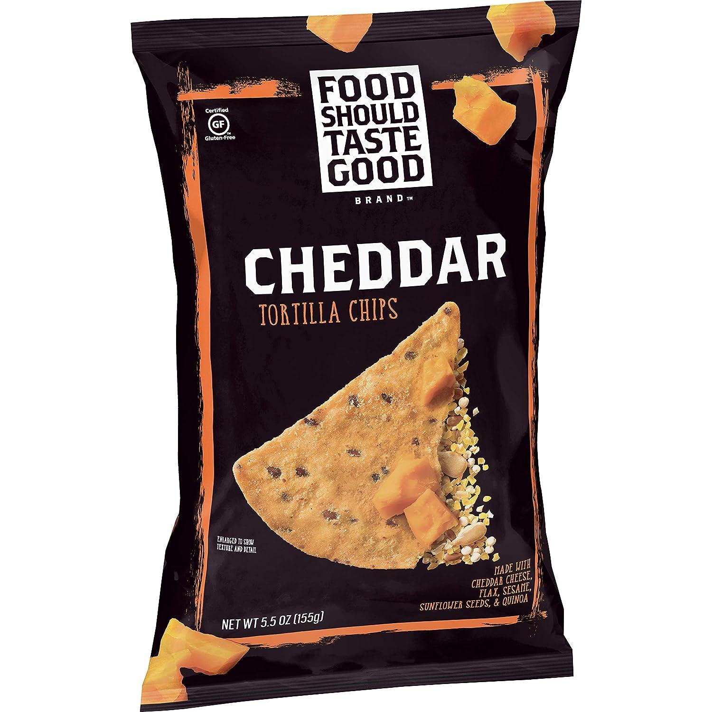 Food Should Taste Good, Tortilla Chips, Cheddar, Gluten Free Chips, 5.5 oz