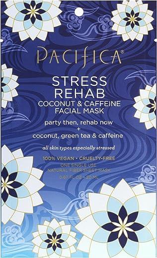 Pacifica Stress Rehab Coconut & Caffeine Facial Mask, 1Count