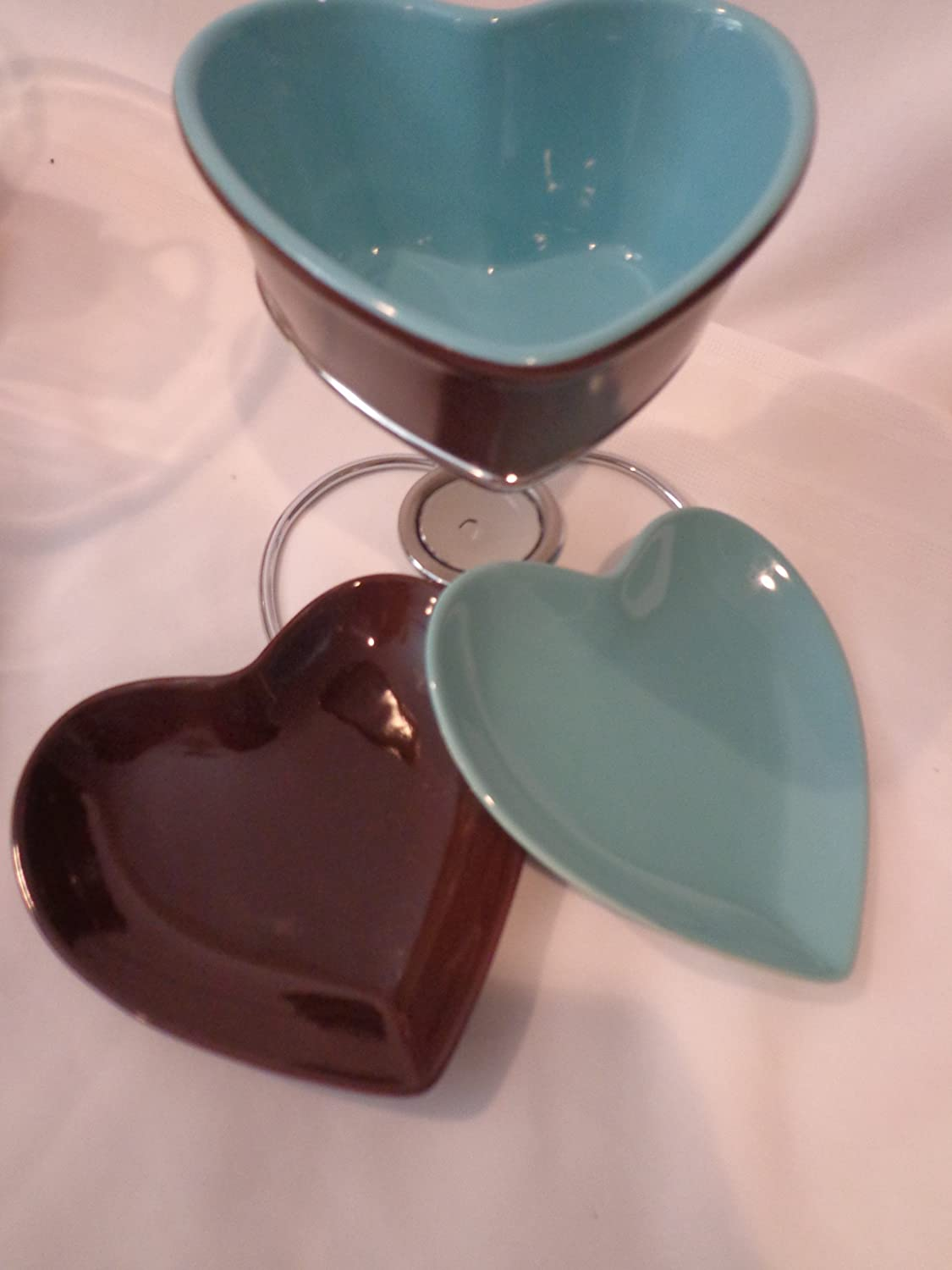 Amazon.com: Dove Chocolate Discoveries Heart-Shaped Fondue Set For ...