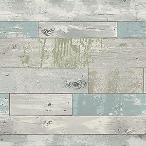 NuWallpaper NU3126 Beachwood Peel and Stick Wallpaper