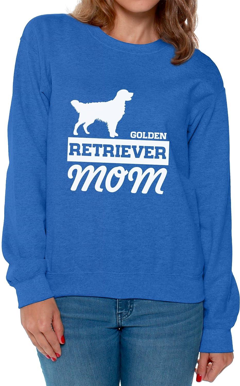 Awkward Styles Womens Golden Retriever Mom Graphic Sweatshirt Tops Dog Lover