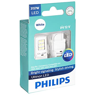Philips 3157WLED Ultinon LED Bulb (White), 2 Pack: Automotive