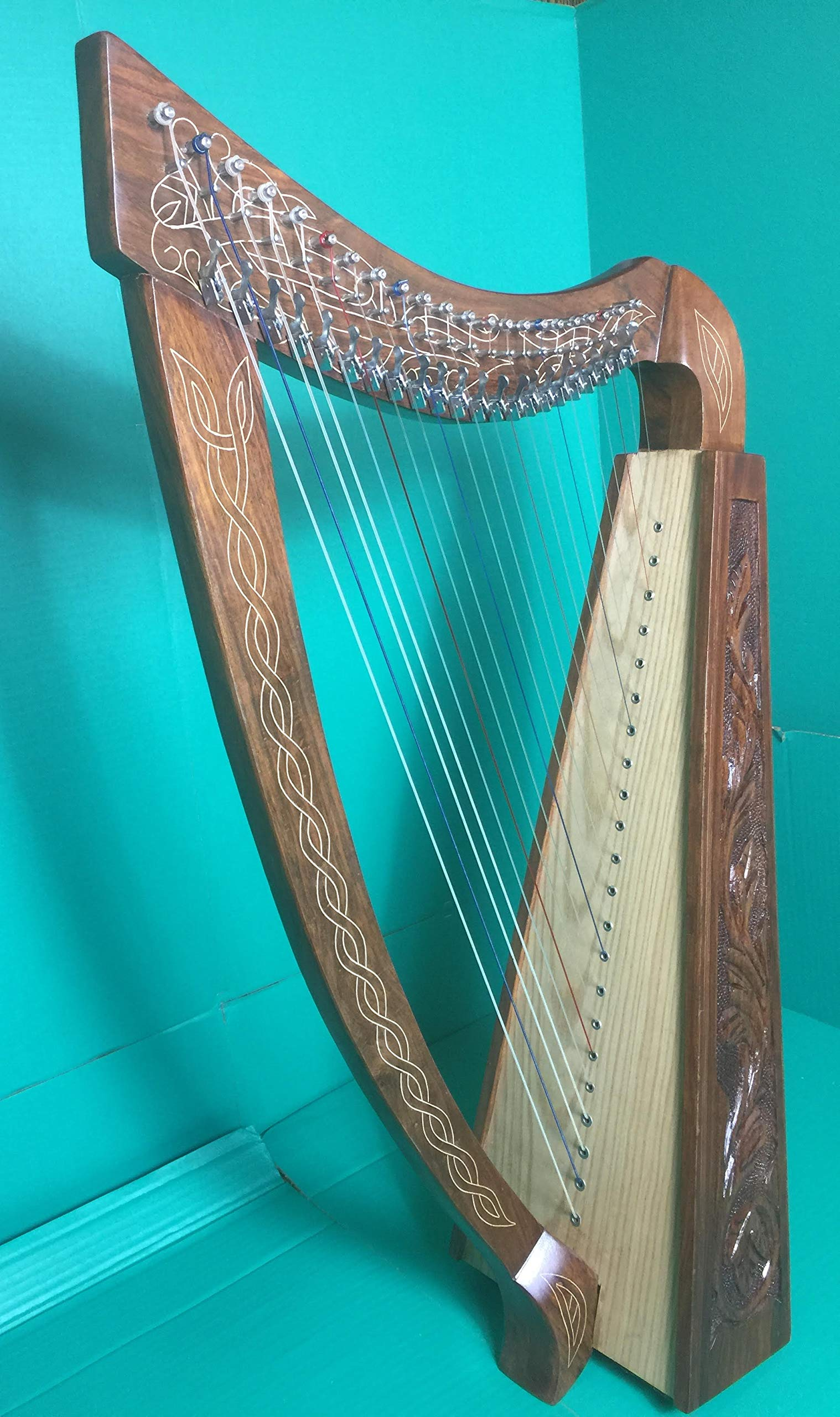 Celtic Harp 22 Strings with Brass Levers with Free Padded Bag and Strings