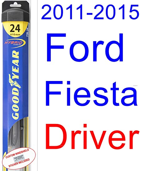 2011 – 2015 Ford Fiesta hoja de limpiaparabrisas de repuesto Set/Kit (Goodyear limpiaparabrisas