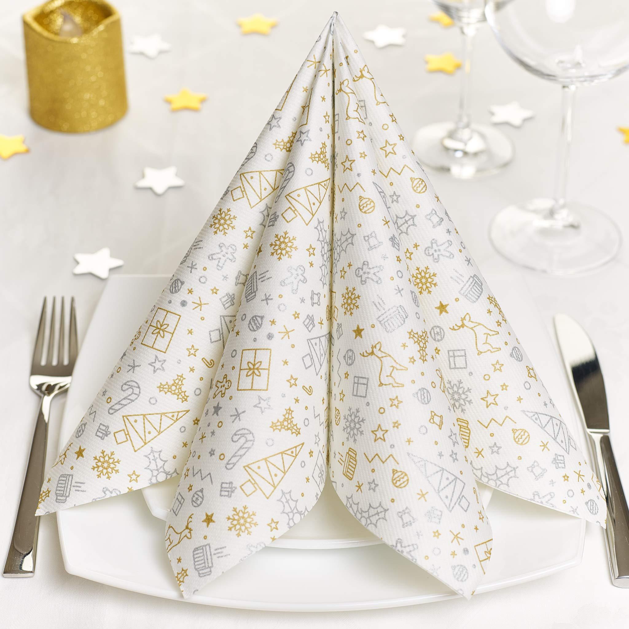 Serviettes moment pure 20 pcs turquoise cocktail serviettes Décoration de table mariage