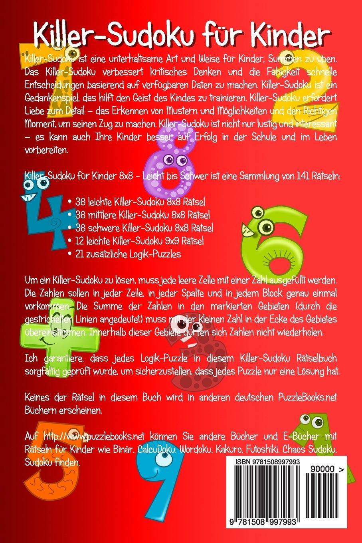 Killer-Sudoku für Kinder 8x8 - Leicht bis Schwer - Band 2 - 141 ...