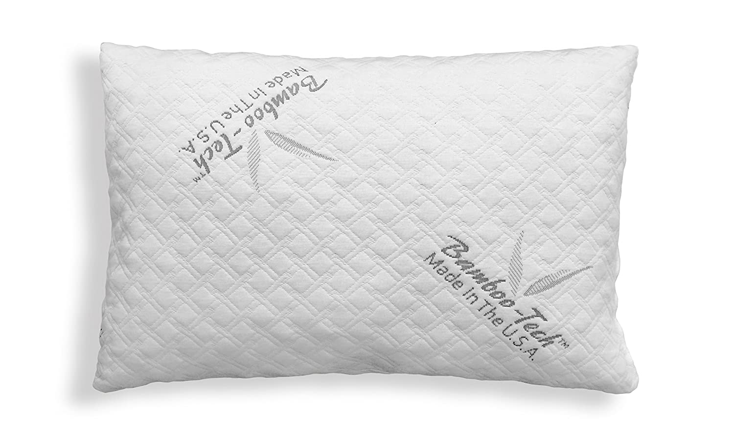 Restwel Bamboo Pillow Memory Foam, Sleep Better, Relief For Neck Pain Or Migraine Headaches! Sleep Aid Stay Cool Hypoallergenic Pillow. Stay Asleep Wake Up Rested, Made In USA