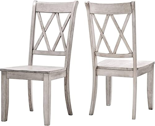 Inspire Q Eleanor X Back Wood Dining Chair Set of 2