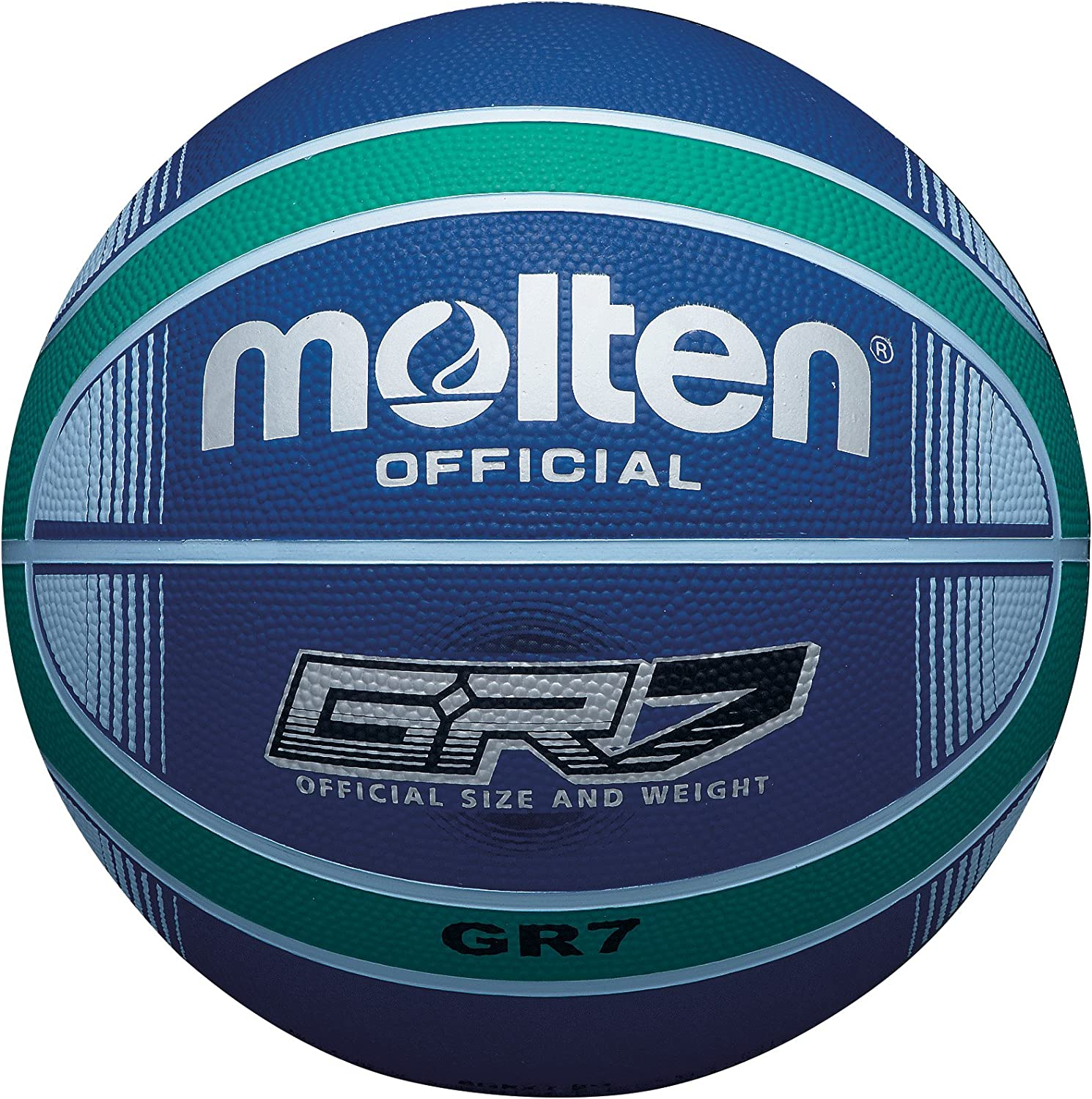 Molten GR7X Indoor Outdoor Rubber Basketball Ball - Limited time trial price Green Blue Max 66% OFF S