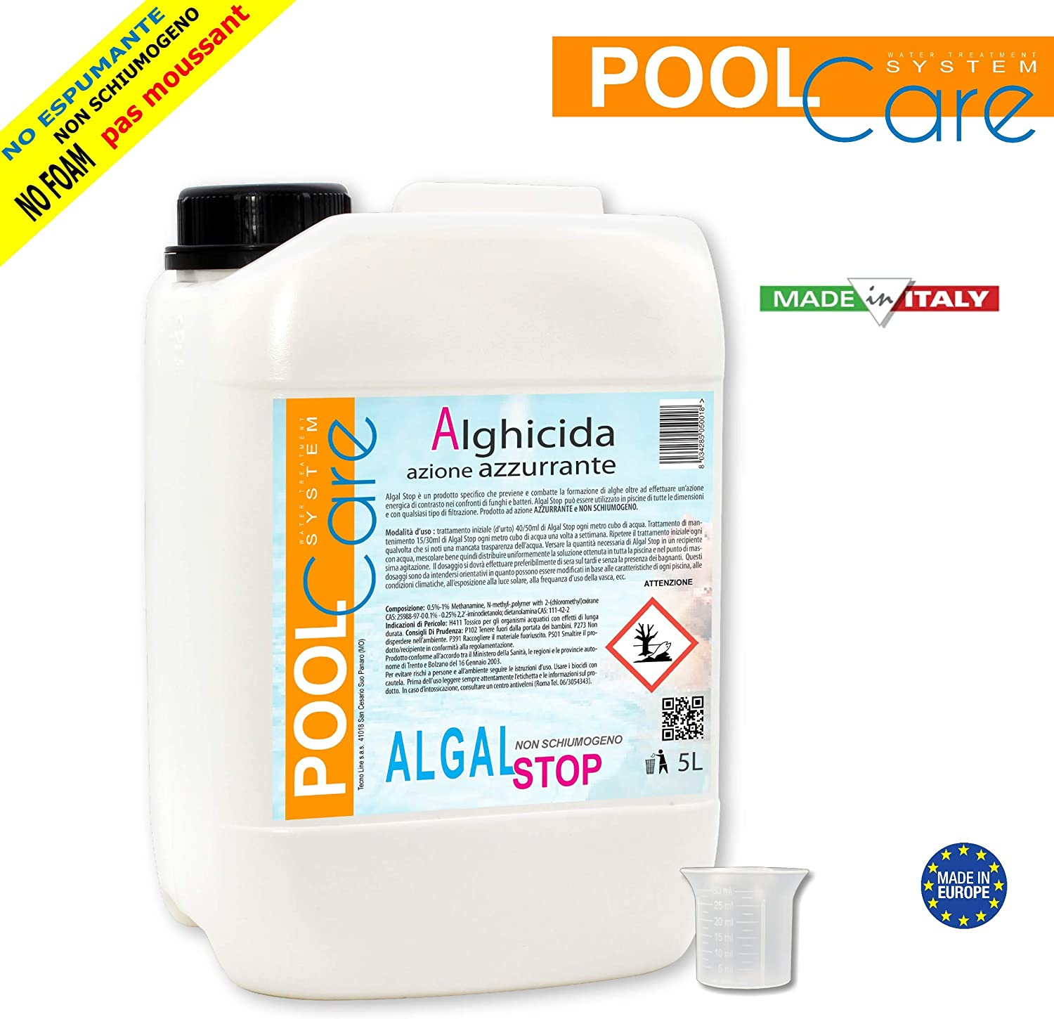 POOL CARE Algal Stop 5 L – antialga Concentrado no schiumogeno + ...