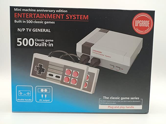 45cd7bc34638 Retro mini console - Preloaded 500 classic games Game-pad with Rapid Fire  buttons  Nintendo Entertainment System  Computer and Video Games - Amazon.ca