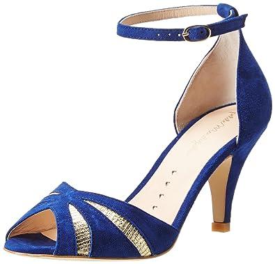 Roi aspect Petit Chaussure chaussures Bleu Compens茅es bleues Talon Jcl1TFK