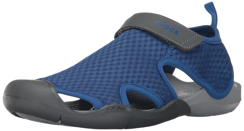crocs Damen Swiftwater Mesh Sandals Women Geschlossene, Smoke  41/42 EU|Blau (Blue Jean)