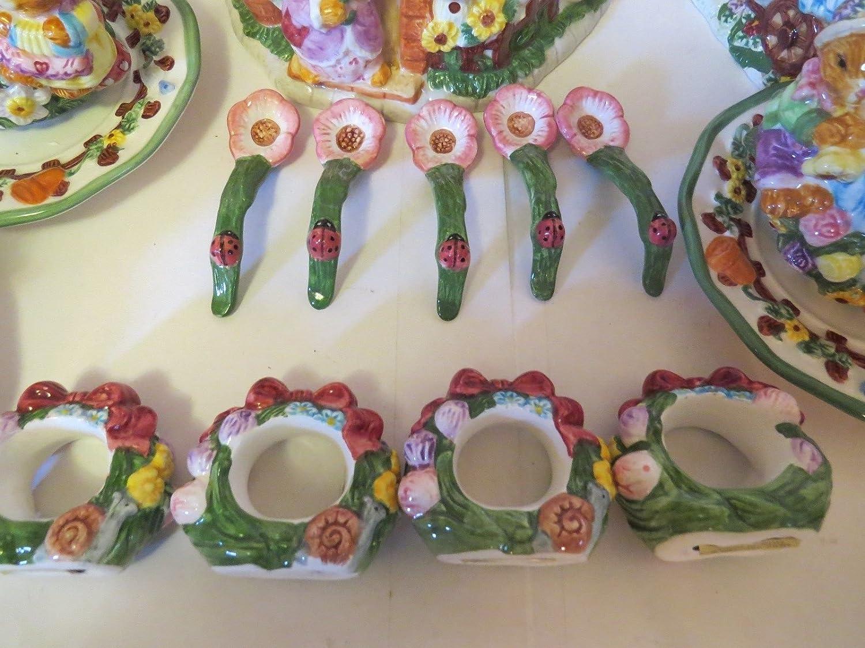 Rabbit Party SPRINGTIME TEA SET 19PC ceramic hand painted