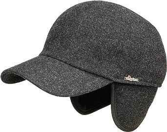 Wigens Kent Melton Baseballcap mit Ohrenklappen aus Wolle