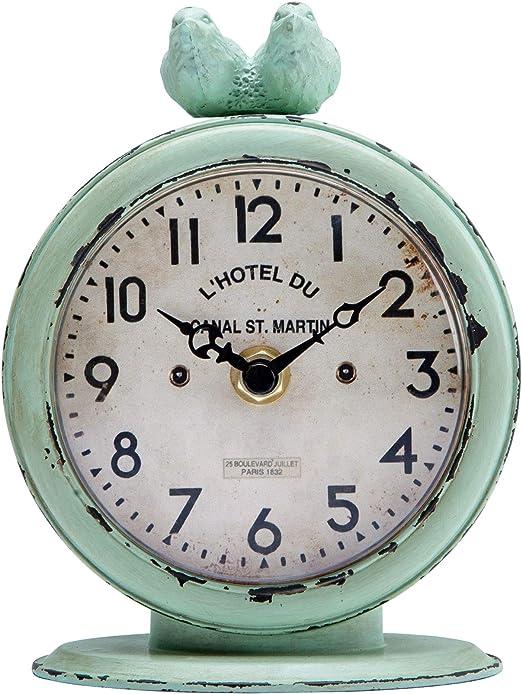 NIKKY HOME Reloj de Mesa con Cuarzo analógicos Vintage Diseño de ...
