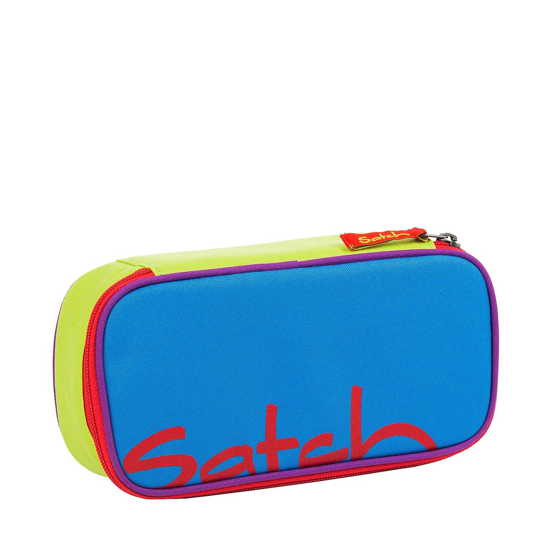 Blau Bunte Streifen Satch pack SchlamperBOX Schlampermäppchen Etui 25 cm