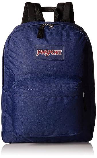 Amazon.com: JANSPORT SUPERBREAK BACKPACK SCHOOL BAG - Navy Blue ...