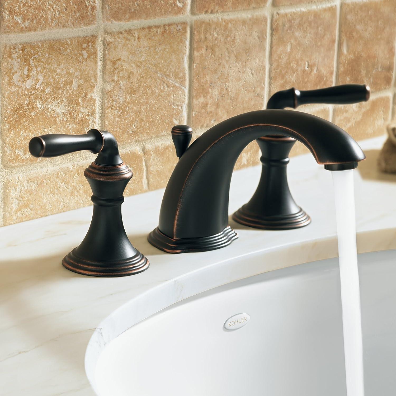 KOHLER K-394-4-BRZ Devonshire Widespread Lavatory Faucet, Oil-Rubbed ...