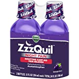 ZzzQuil Nighttime Pain Relief, Sleep Aid Liquid with Acetaminophen, 2 Bottles of 12 Fl Oz (24 Fl Oz Total)