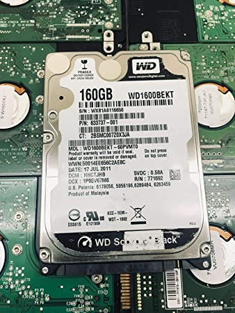 New 160GB 2.5 7200RPM SATA Hard Drive Western Digital WD1600BEKT Renewed