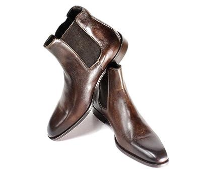 dea862722001 Ivan Troy Chelsea Brown Boot Handmade Men Italian Leather Dress Boots/Ankle  Boots (EU