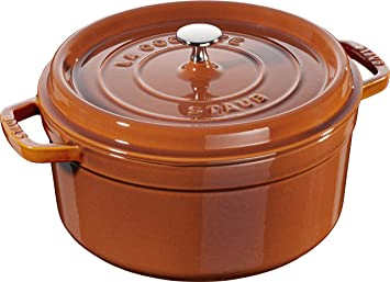 Staub 11026806 - Cazuela Redonda de 26 0 cm 5 0 l Canela Apta para inducción (h.nr.): Amazon.es: Hogar