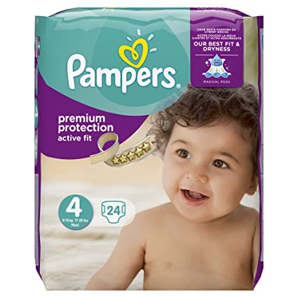 Pampers Premium protección Active Fit Carry Pack – tamaño 4, 24 Pañales