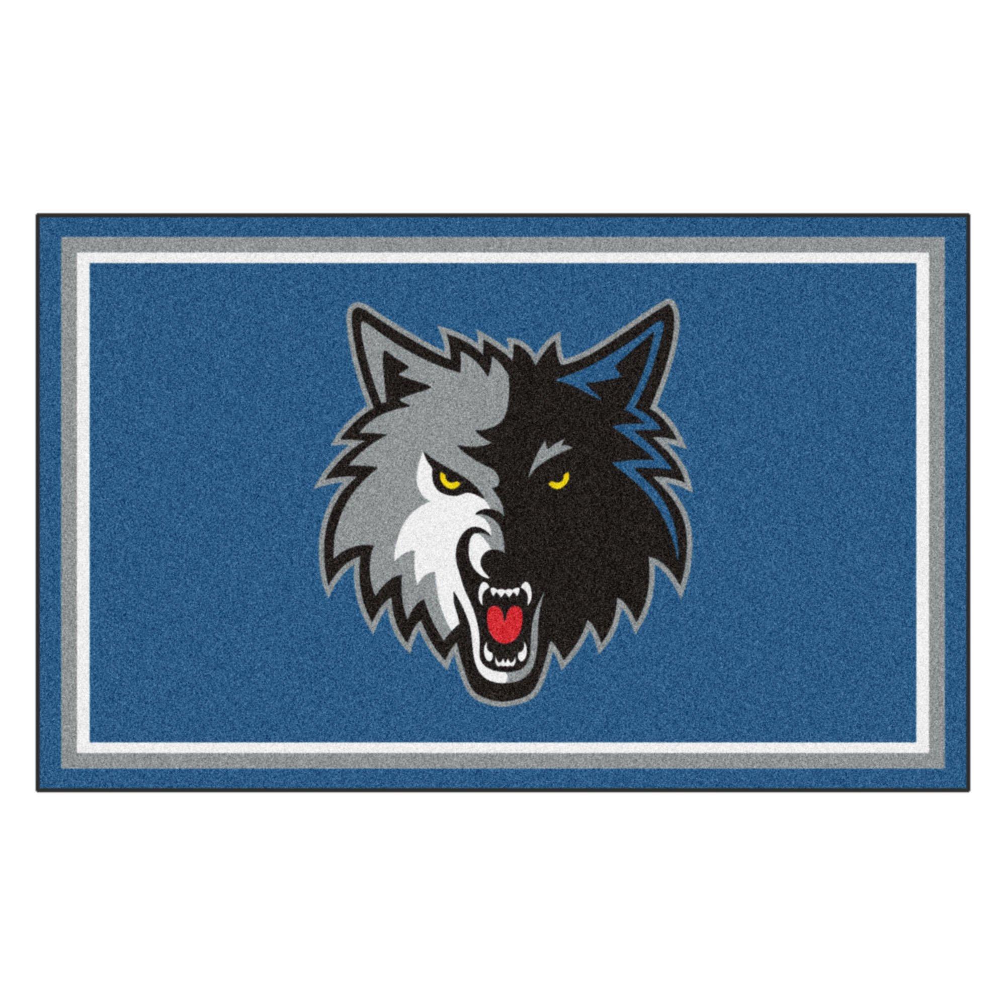 FANMATS 20435 NBA - Minnesota Timberwolves 4'X6' Rug, Team Color, 44''x71''