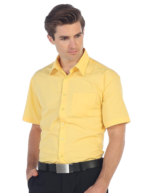 Gioberti Mens Short Sleeve Solid Dress Shirt At Amazon Mens