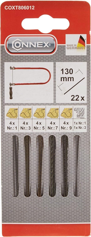 Connex Laubsägeblatt Holz Zarsa 1+3+5 12 Stück