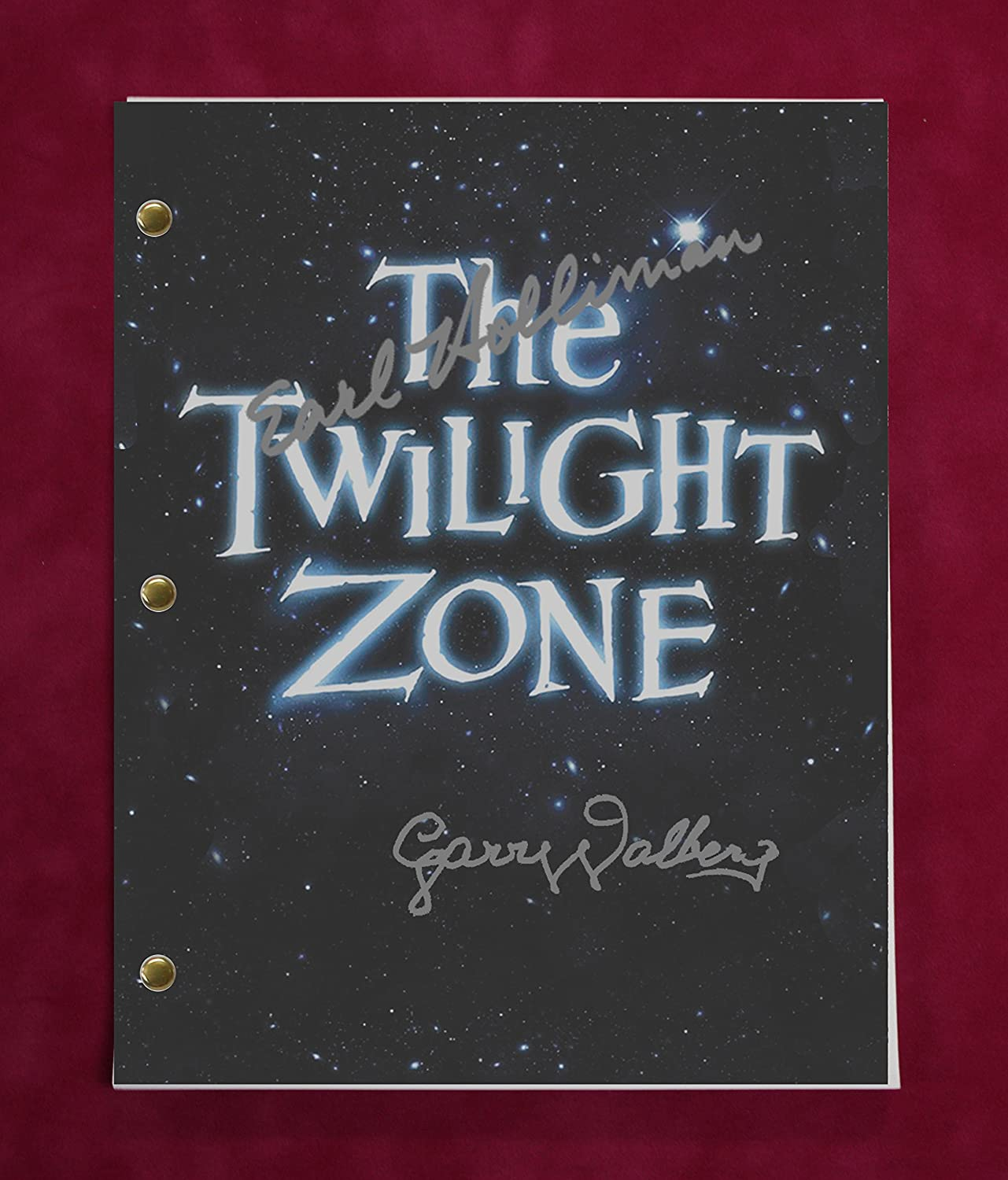 The Twilight Zone TV Script w/Reproduction Signatures Harrelson, Gregory, Langton C3