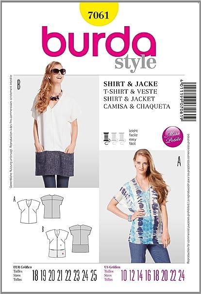 Burda patrón de Costura para Mujer-Camisa/Chaqueta: Amazon.es ...