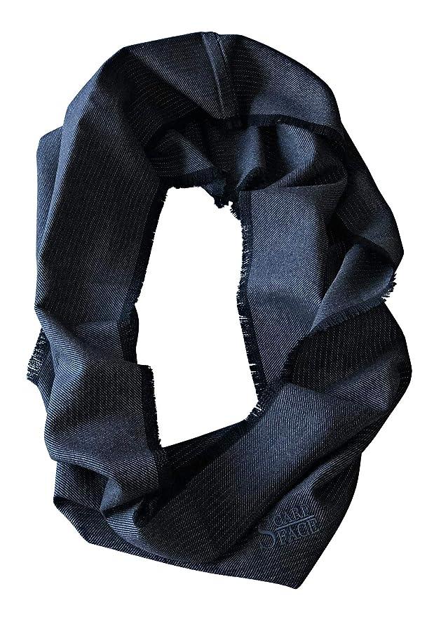 Unisex schwarz//grau Scarfface reflektierender Webschal Loop 80 x 80 cm