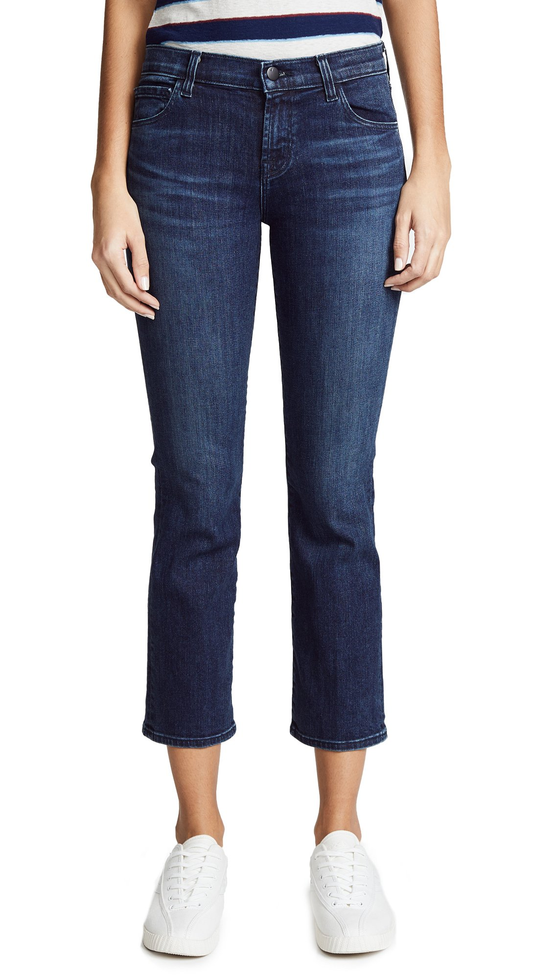 J Brand Women's Selena Mid Rise Crop Boot Jeans, Unbound, 23