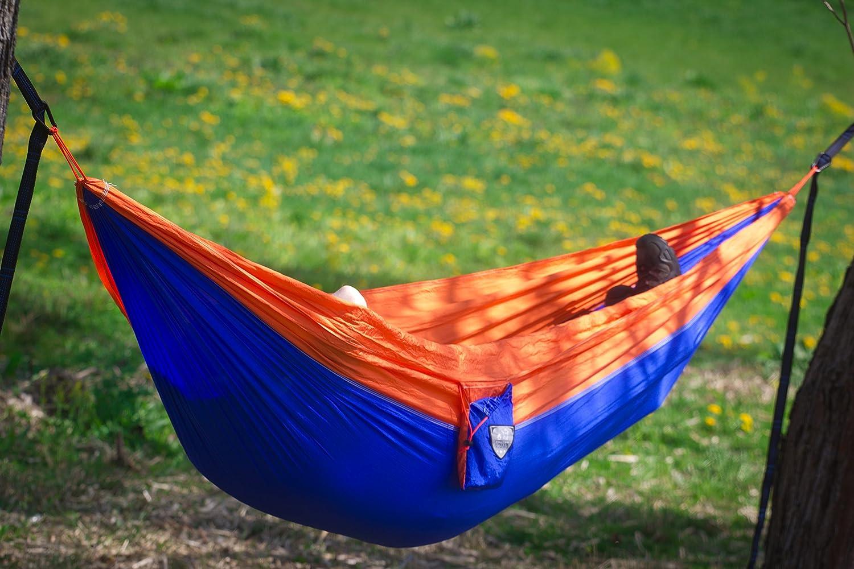 Modernnomad leicht Nylon Camping Hängematte mit verstellbaren Trägern und Wiregate Karabiner
