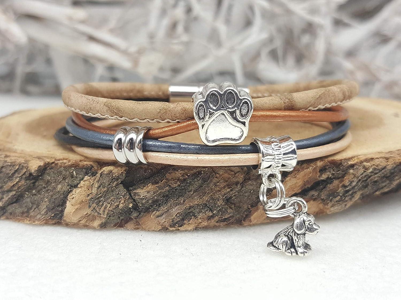 Armband mit Tierpfote und Hund