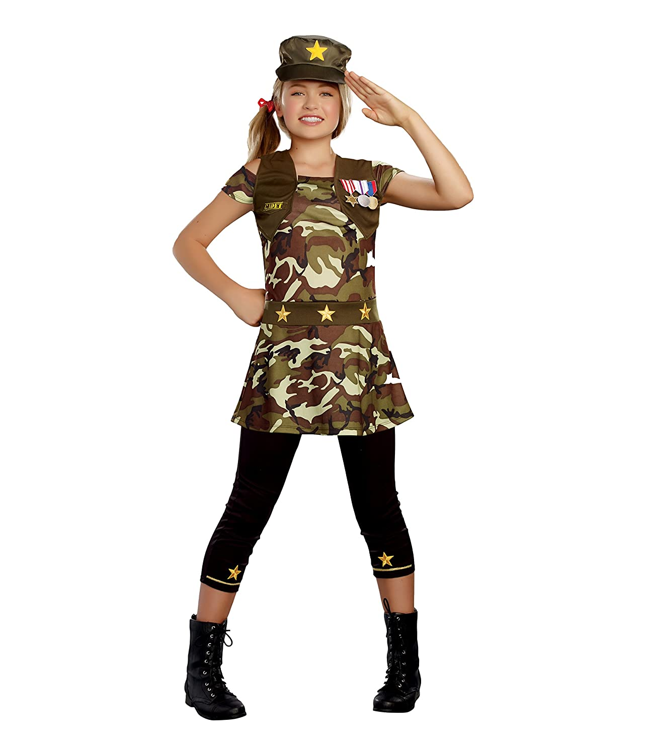 SugarSugar Girls Cadet Cutie Costume, One Color, X-Large, One Color, X-Large by Sugar
