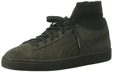 Mens Puma Suede Classic + Low Top Sneakers Olive Night