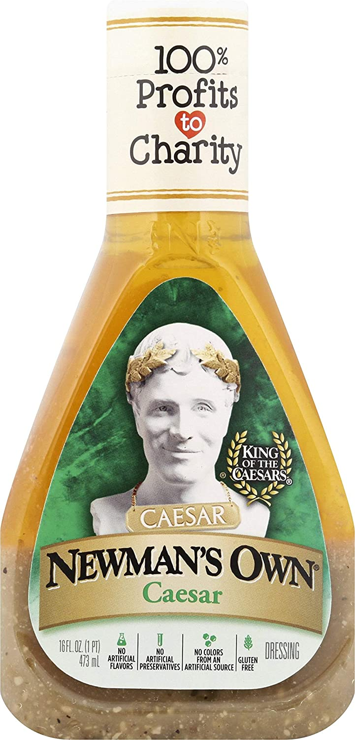 Newman's Own Salad Dressing, Caesar, 16-Ounce Bottles (Pack of 6)