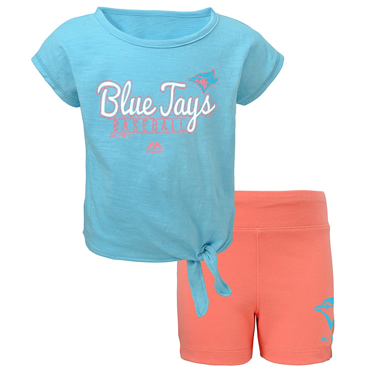 Toronto Blue Jays Preschool Girls Tiny Trainer T-Shirt and Short Set Majestic