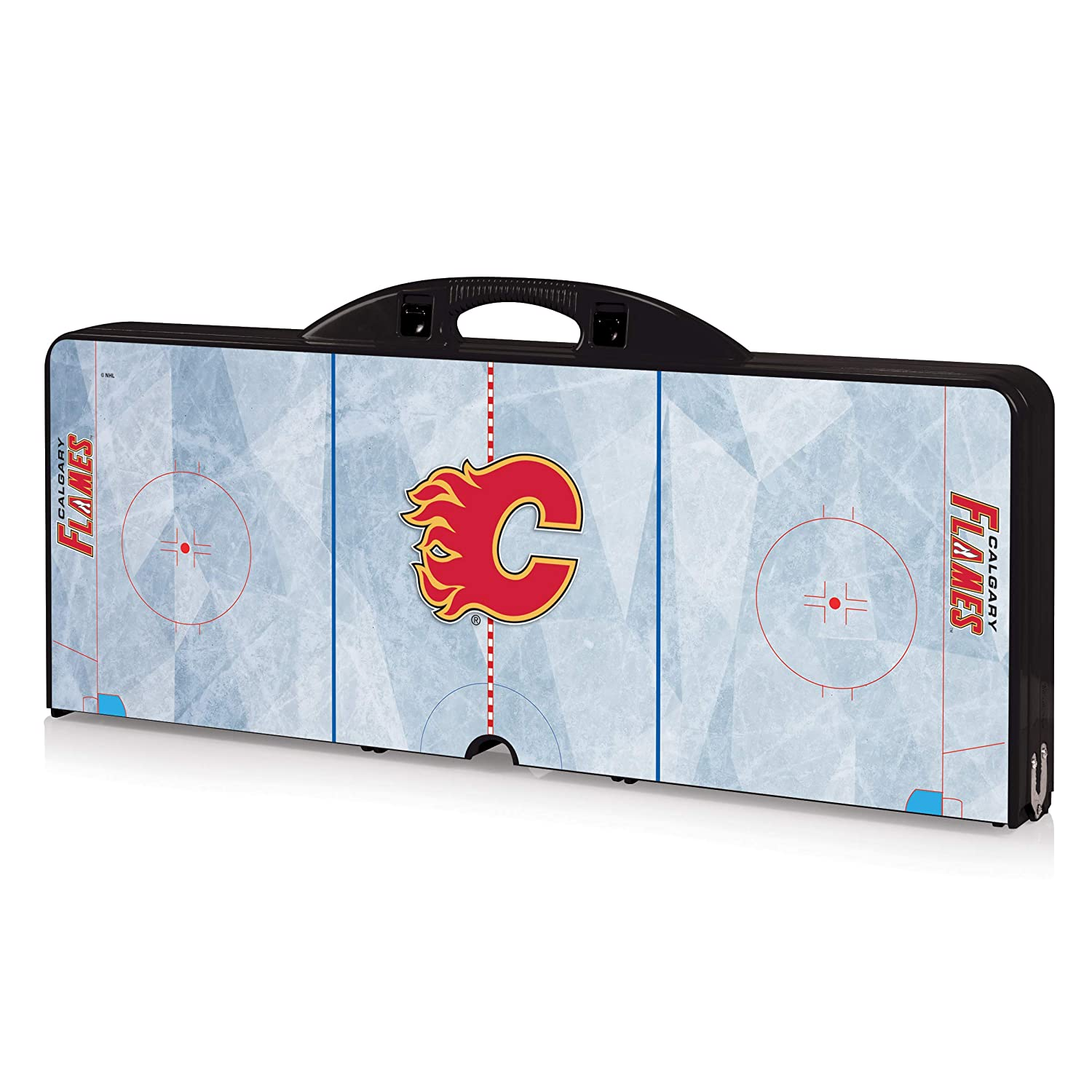 NHL Calgary Flames Portable Folding Picnic Table with Seating for 4