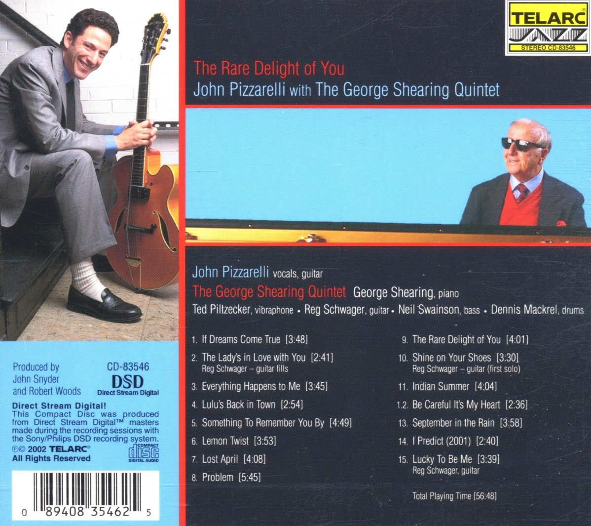 John Pizzarelli, George Shearing - The Rare Delight of You - Amazon