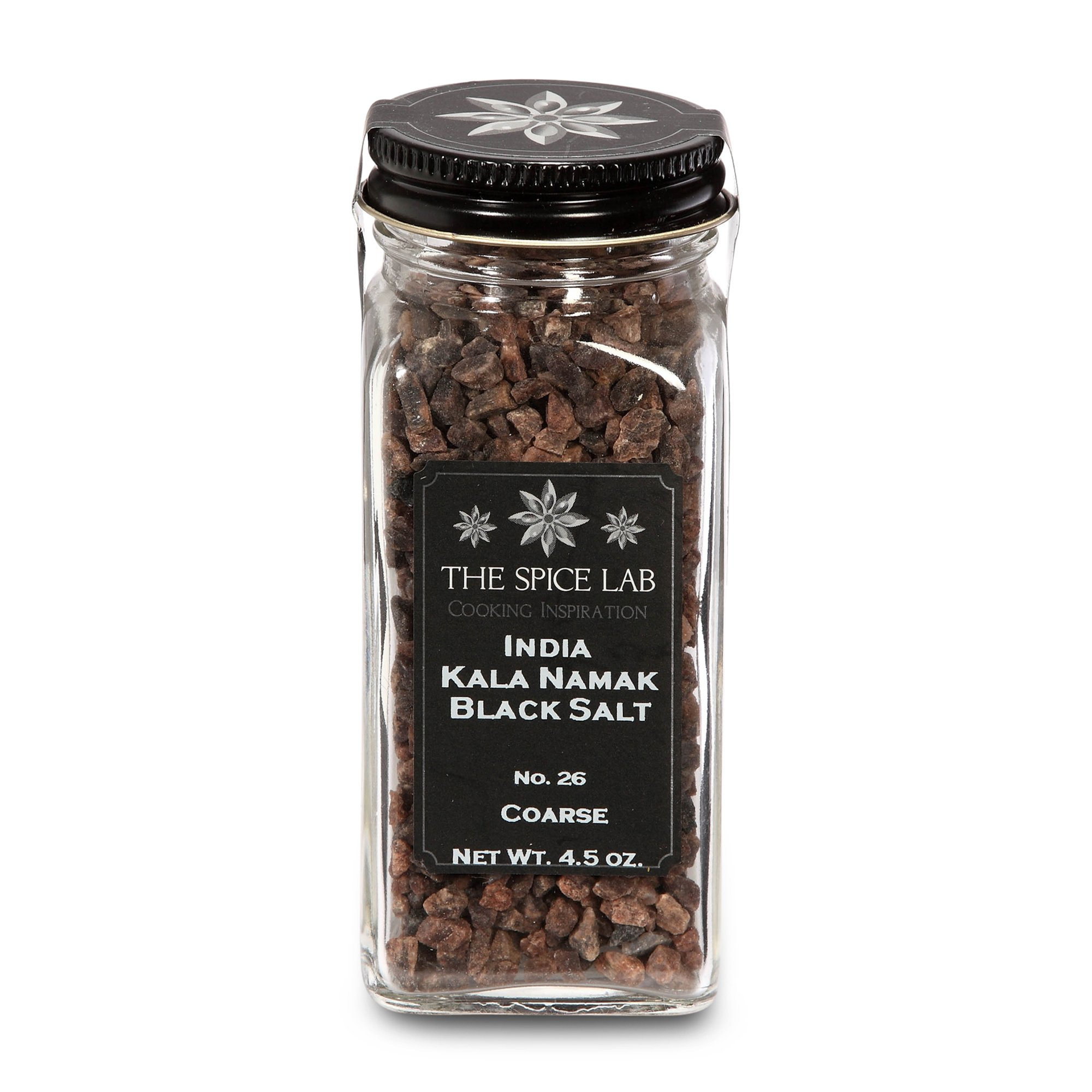 The Spice Lab Kala Namak Himalayan Black Crystal Indian Salt - Mineral Enriched Kosher Gluten-Free All Natural Salt - Coarse - French Jar by The Spice Lab