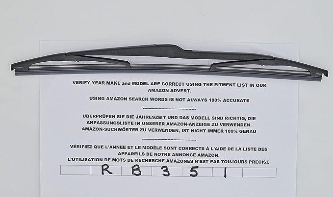 RB351 - Limpiaparabrisas trasero con ajuste perfecto: Amazon.es: Coche y moto