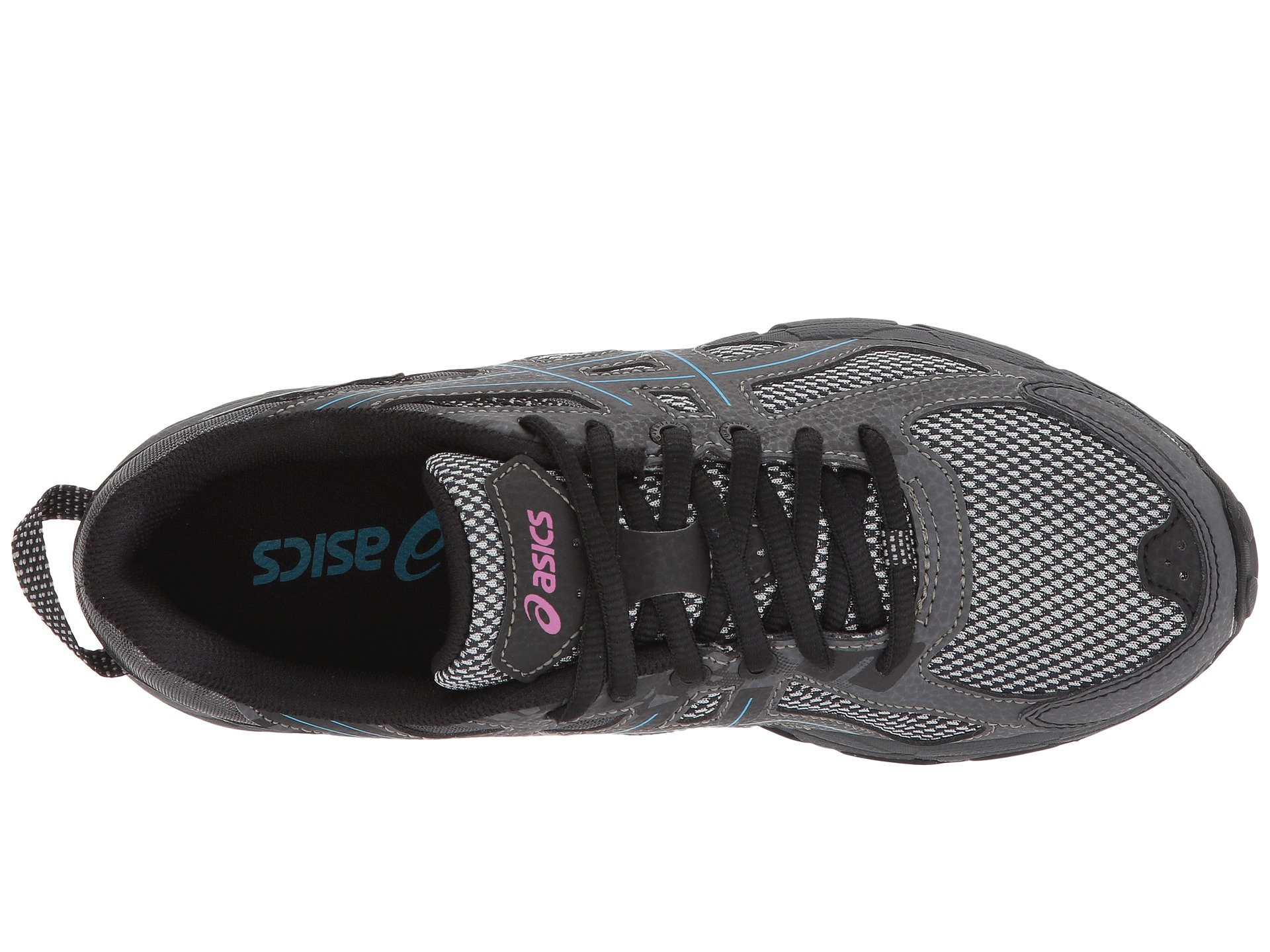ASICS Womens Gel-Venture 6 Black/Island Blue/Pink 5 B US by ASICS (Image #9)