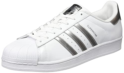 adidas Originals Superstar, Zapatillas Unisex Adulto, Blanco (Footwear White/Silver Metallic/Core Black), 44: Amazon.es: Zapatos y complementos