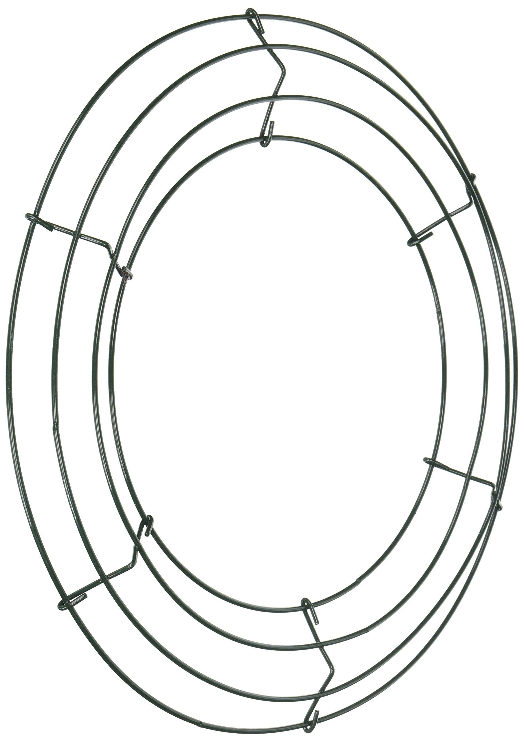 Panacea-36003-Wire-Wreath-Frame-12-Green